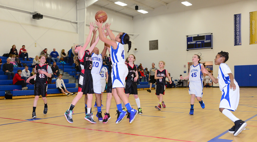 GCCYS Girls Basketball Action